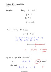 Math 140 Inequalities Notes