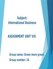 MBA6601_Unit VIII Assignment_Group 24.pptx