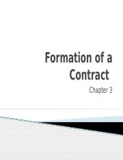 formation of a contract Con 090-3: contract formation in the far is the third of four modules in con 090 - federal acquisition regulation (far) fundamentals and is a limited lecture.