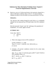 Chapter 8 Recitation Problems - More