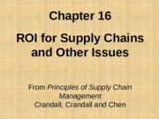 Chapter 16  ROI Along the SC PSCM2E