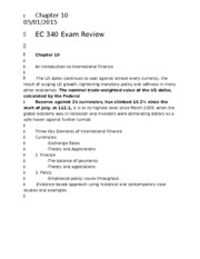 EC 340 Exam Review