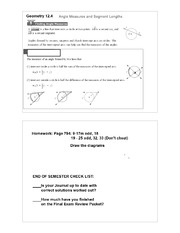 Angle Measures & Segment lengths notes