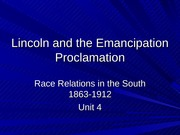 Lincoln and the Emancipation Proclamation powerpoint