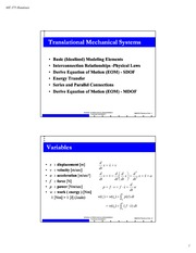 Translational_Mechanical System