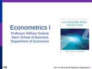 Econometrics - Applications of Feasible GLS