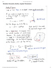 Angular Momentum Notes