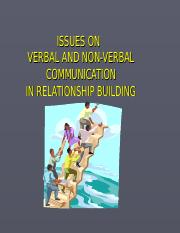 GET 1032 Lect 3 (2016) Communication and Relationship Building- Verbal and Non Verbal