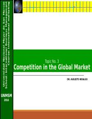Cap. 3 Competitng in the global markets 3