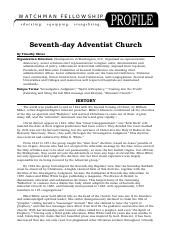 adventismprofile