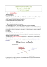 3 - L'identification causale (3)