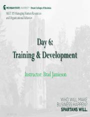 6. Training & Development - Lecture