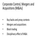 Class Notes - Mergers & Acquisitions.pdf