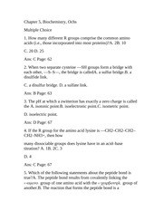 Chapter 5 Biochemistry Ochs Test