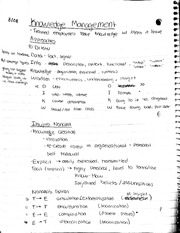 Knowledge management notes