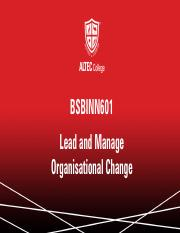 BSBINN601 - Lead and Manage Organisational Change.pdf