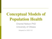 L2 - HSS 1101 - Population Health Models Winter 2013