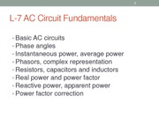 L-7 - AC Circuit Fundamentals