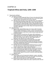 Chapter 14 Tropical Africa and Asia