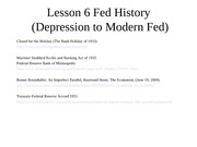 Lesson 6--Fed History