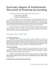 Summary Report Chapter 3 - Institutional Structure of Financial Accounting