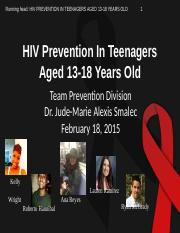Prevention Division_HIV Prevention in Teenagers Aged 13-18 Years Old.pptx