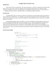 11_Examplle Using a Nested For Loop.docx