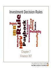 Chapter 7 investment decision rules for avoiding mmm global investment strategy