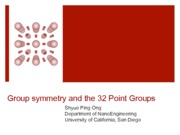 05 - Point groups(2)