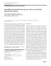 Spaceflight and modeled microgravity effects on microbial