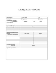 Method Specification TEMPLATE