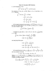 Math 101 Dec 00 Solutions