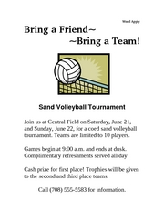 Corrected Volleyball Tournament