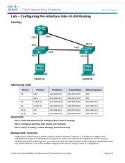 5.1.2.4 Lab - Configuring Per-Interface Inter-VLAN Routing