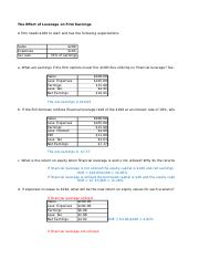 Module 04 - Written Assignment - The Effect of Leverage on Earnings.xlsx