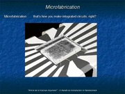 Lecture 4 - Microfabrication