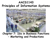 Chapter 7 ISs in Business Functions - Marketing and Productions - Students 201516