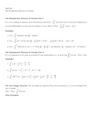 Notes on Fundamental Theorem of Calculus