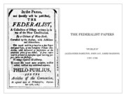 FEDERALIST PAPERS by PUBLIUS