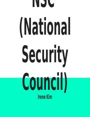NSC  (National Security Council)