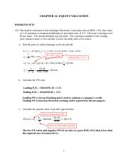 Tutorial 7 Equity Valuation Chapter 11&12.doc