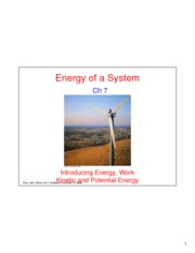 Energy of a System-Ave