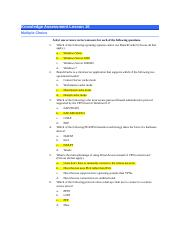 NOS 130-Lesson 16 Knowledge Assessment-With Answers