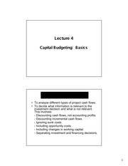 Lecture 4 - Notes