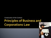 Contract Law - Content PP slides