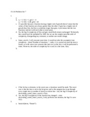 Principles of Computing Problem Set 7