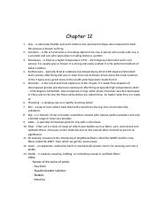 Chapter 12- Notes