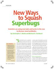 Walsh _ Fischbach - New Ways to Squash Superbugs _Scientific American_