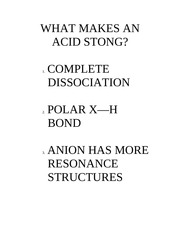 WHAT MAKES AN ACID STONG