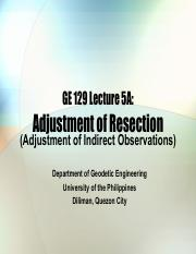 GE 129 Lecture 5A Adjustment of Resection.pdf